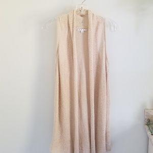 Cabi crean knit sweater vest cotton linen #717 S